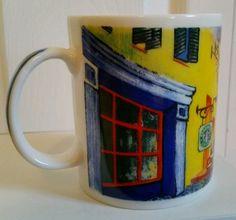 STARBUCKS Vincent Van Gogh COFFEE MUG CUP - Cafe at Night - CHALEUR - D.BURROWS #Starbucks