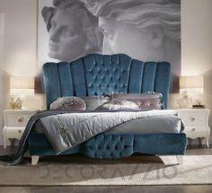 #bed #furniture #furnishings #design #interior #interiordesign #decoration  двухместная кровать Modenese Gastone Contemporary, 92154