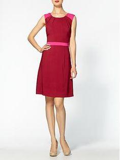 Tinley Road Color Block Shoulder Dress  - $29.99