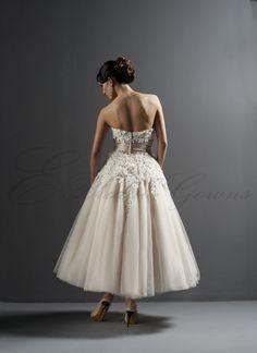 Strapless Tea Length Wedding Dress Canada Wedding Dresses Shop