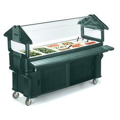 Carlisle 661108 Forest Green 6 Six Star Portable Food Salad Bar With Storage Base