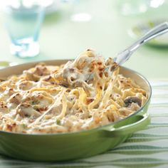 Turkey Fettuccine Skillet (from Taste of Home's 5 great recipes for the budget-conscious cook)