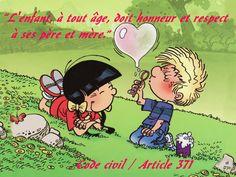 """Citations I - """"L'enfant, à tout âge, doit honneur et respect à ses père et mère."""" Code civil De Code civil / Article 371  Dumenica u 28 di Agostu : Santu Agustinu."""