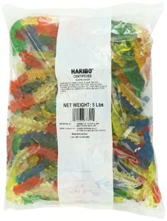 Haribo Gummy Centipedes at The Online Candy Shop. Haribo Gummy Centipedes are delicious and come in a 5 pound bag. Bug Candy, Gummi Candy, Gourmet Recipes, Snack Recipes, Snacks, Mario Party Games, Super Mario Cake, Bad Room Ideas, Birthday Numbers