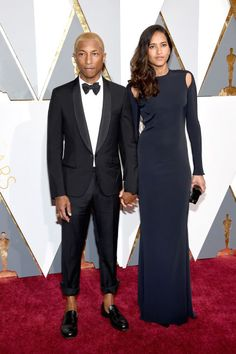 These are the 12 hottest couples from the 2016 Oscars. See the full list here: Pharrell Williams and Helen Lasichanh