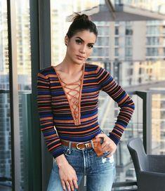 Super Vaidosa Stripes and denim look! - Super Vaidosa