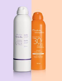 CUIDADO REFRESCANTE Fáceis de aplicar, mais fluidos e frescos, os sprays garantem proteção e hidratação perfeitas para o verão