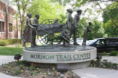 Mormon Handcart Trail | Mormon Trail Center Handcart Statue