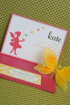 butterfly invite