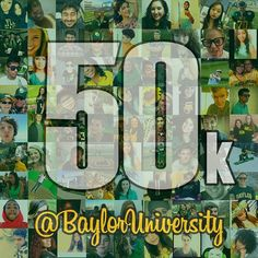 Thanks to all our 50,000+ Instagram followers! We love that you love #Baylor as much as we do! #SicEm
