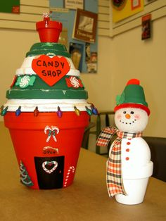 "Hello, my friends today we have an amazing article for you ""DIY Clay Pot Christmas Decorations For Unique Decor"". Flower Pot Art, Clay Flower Pots, Flower Pot Crafts, Clay Pot Projects, Clay Pot Crafts, Diy Clay, Painted Clay Pots, Painted Flower Pots, Snowman Crafts"