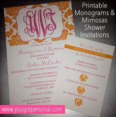 monograms u0026 mimosas free invitation printables games u0026 inexpensive gift ideas this is inexpensive giftbridal shower