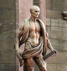 St. Bartholomew wearing his skin