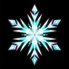 Elsa's snowflake (use for hair pieces)
