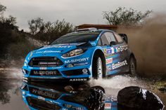 Mads Ostberg driving M-Sport Ford Fiesta RS WRC during Rally Mexico 2016.