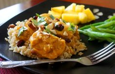 Recipe for Slow Cooker Curried Chicken - 365 Days of Slow Cooking and Pressure Cooking Slow Cooked Meals, Crock Pot Slow Cooker, Crock Pot Cooking, Slow Cooker Recipes, Crockpot Recipes, Chicken Recipes, Freezer Chicken, Fun Recipes, Chicken Rice