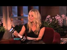 I love this clip and Kaley Cuoco digging herself deeper into a hole lol.  (Ellen clip about the shake weight).