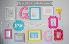 How to Create a Bright and Girly Gallery Wall on a Budget.