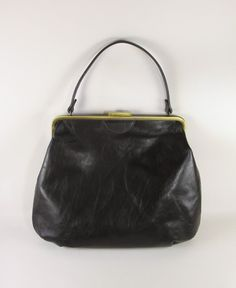 Max & Co Italian leather frame bag - fall winter 2009 This is brilliant, and oversized