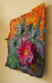 Textured / 3D felt / textile wall art by Teri Berry Creations