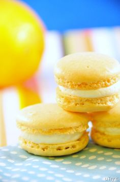 Meyer Lemon Macaroons with Limoncello Buttercream