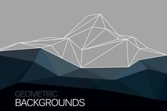 Geometric mountain with triangles by librebird on Creative Market