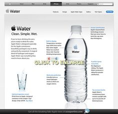 If Apple made water... errr iWater?