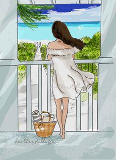 Beach Dreaming Wall Art - Art for Women - Tween Art - Motivational Art - BeachArt - Art for Women - Inspirational Art