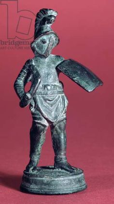 Statuette of a Gladiator, (bronze). Roman / Ashmolean Museum, University of Oxford, UK