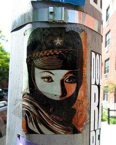'Obey Sticker in NYC'