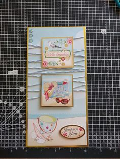 Hunkydory Crafts Sun Sea and Sandcastles Collection. Beach card with twine and crystal embellishments.