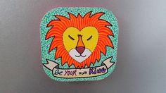 Magnet aimant roi lion peint à la main par BunnyHeartsYou sur Etsy #art #diy #magnet #deco #lion #king #animal #pretty #cute #illustration #banner #oldschool #vintage #handmade #craft