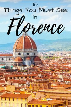 Florence is magnetic, romantic and busy. This amazing city contains numerous museums and art galleries where some of the world's most famous works of art are held.  #florence #italy #florenceitaly #florencetravel #florencebestplaces #destinations