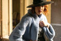 Норковая шуба голубого цвета / Mink fur coat in light blue - Sarigianni Fur Fashion Collections, Hats, Fashion, Moda, Hat, Fashion Styles, Fashion Illustrations, Hipster Hat