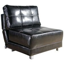 Krystal Leather Convertible Chair