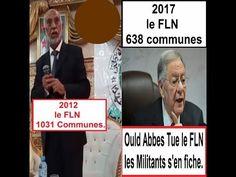 Algérie, FLN, 2012, 1031 communes. 2017, 638 communes. Ould Abbes Tue le...