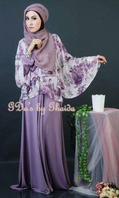 Purple skirt, purple scarf, floral shirt, silver bracelets, silver earrings