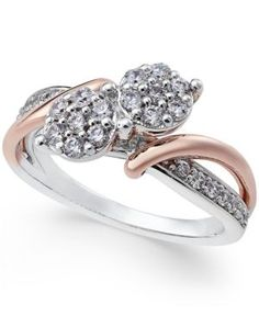 Two Souls, One Love Diamond Anniversary Ring (1/2 ct. t.w.) in 14k White and Rose Gold - Two-Tone