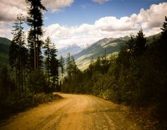 Canadian Rocky Mountain Lookout Road by lostkatphotography on Etsy