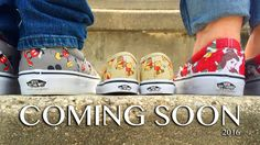 Having some type a theme for your baby announcement is always fun. We're both Disnerds and know we'll pass it on. So we purchased Disney Vans for all of us to be photographed in.