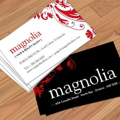 Customizable Hair Salon Business Card Templates created by Colourful Designs Inc.