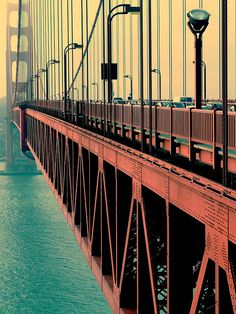 A cool look at the Golden Gate Bridge!