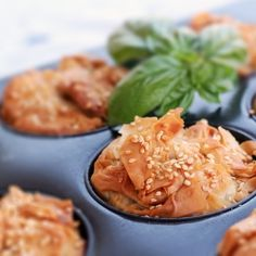 Eggplant pies with feta in phyllo dough  {recipe in greek}