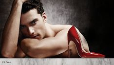 Male model goes nude for Brian Atwood shoes   Backstyle