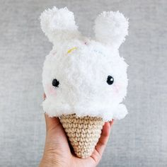 momomintsshop:: Have you met Coconut yet? We jumbo sized our little Icecream bear keychains and made new icecream bunnies! Find Coconut our limited edition plush for May along with some friends . More on our blog: momomints.com/blog