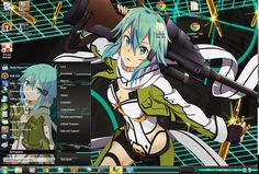 Windows theme Free Download themes windows // Tema // 7 // seven// phantom bullet // ggo //skin//sword art online// Theme // win