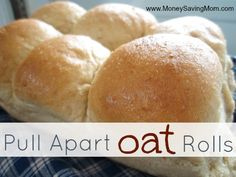 Pull Apart Oat Rolls - made these tonight but next time only make HALF - bread maker was too small... Yummy but I made a huge mess :) Pan, panificadoras, máquinas
