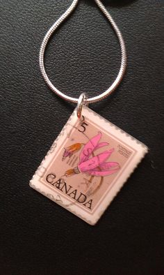 CANADA - Beautiful Vintage Postage Stamp Jewelry