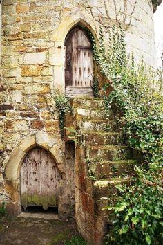 castle tower door