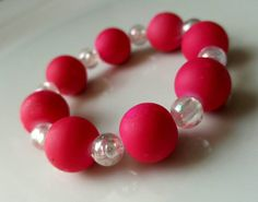 Hey, I found this really awesome Etsy listing at https://www.etsy.com/listing/261068865/bubble-gum-bracelet-hot-pink-bracelet